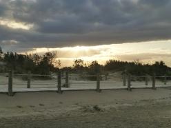 puesta de sol en el delta del Ebro